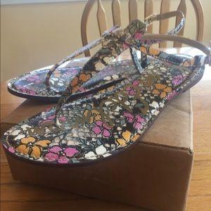 Sam Edelman floral sandals